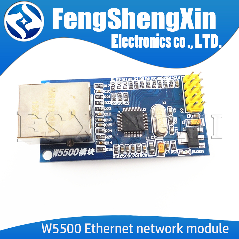 Neue W5500 Ethernet netzwerk modul hardware TCP/IP 51/STM32 mikrocontroller programm über W5100
