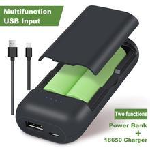 18650 배터리 충전기 18650 USB 충전기가있는 18650 pow bank 충전기 용 2 슬롯 LED 충전기