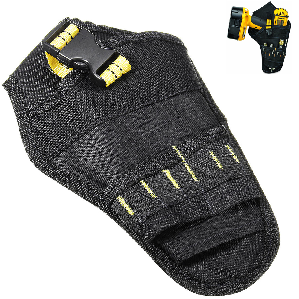 Pocket For Drill Holster Cordless Tool Holder Heavy Duty Belt Pouch Bag Black