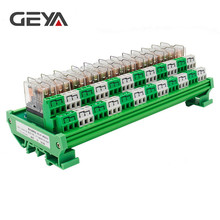 цена на GEYA 2NG2R 12 Channel Omron Relay Module 2NO 2NC 12VDC 24VDC DPDT Relay PCB BOARD