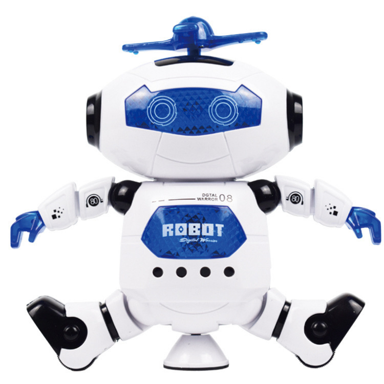 Electric Space Dancing Robot Dancer 360-Degree Rotating Sound And Light Infrared Stall AliExpress Hot Selling