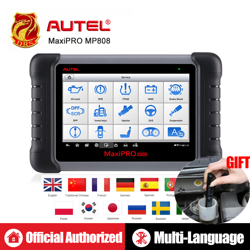 Autel MaxiPRO MP808 DS808 OBD2 Automotive Scanner OBDII Diagnostics Tool Code Reader Scan Tool Key Coding as Autel MaxiSys MS906-in Multimeters & Analyzers from Automobiles & Motorcycles