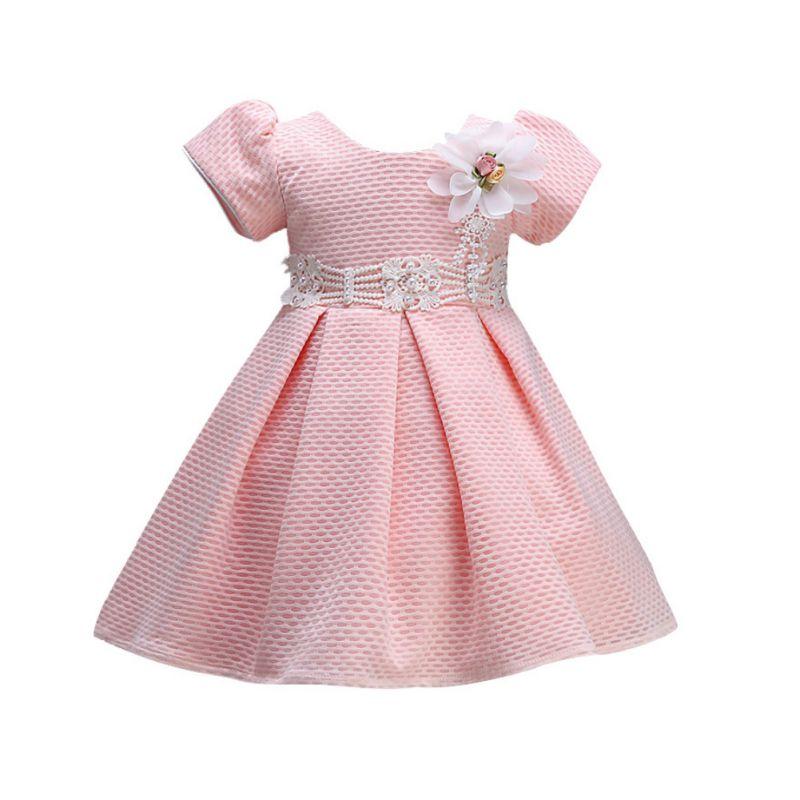 Toddler Baby Kids short Sleeve Dresses for Girls Flower Dress Princess Party Wedding Gown Children Clothing thumbnail