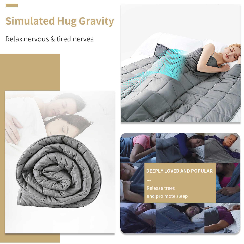 6,8 kg/9kg Gewichtet Decke Erwachsenen Volle Königin Größe Baumwolle abdeckung schwere decke zu reduzieren Angst quilt für bett sofa winter tröster