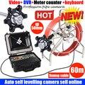 Sistema da câmera do poço da tubulação da inspeção do sistema da câmera do auto do nível dvr do auto de 60m com câmera da tubulação do nível do auto de 50mm