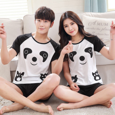 (According To Feminine) Black Short Sleeve White Bear Couples Qmilch 120 Grams Men And Women The Three Shoe Size