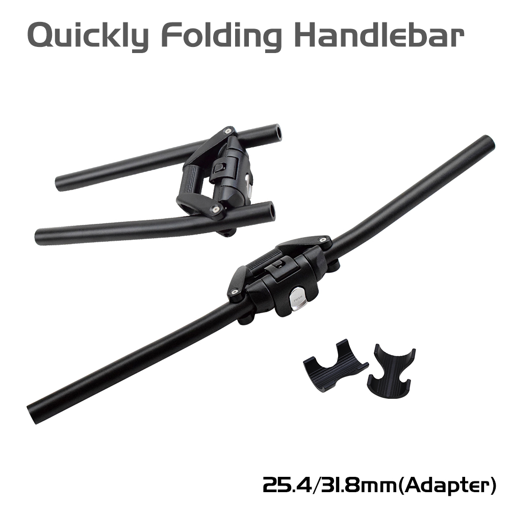 FHS2 1 Second Quick Foldable Bicycle Cycling Handlebar 25 4mm 31 8mm Alloy Stunt Scooter Bar