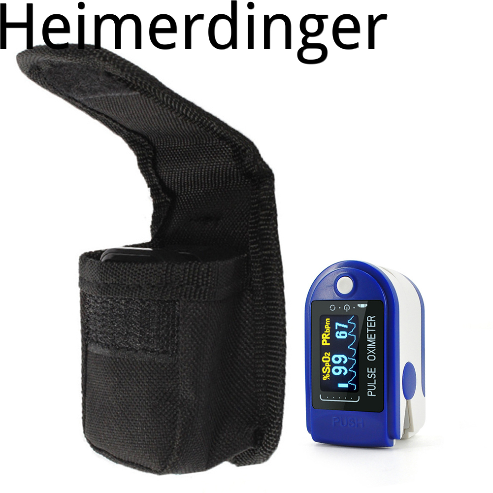 1 Pc Fingertip Pulse Oximeter Bag Portable Protective Compact Nylon Oximeter Case Carry Pouch For Travel Outdoor