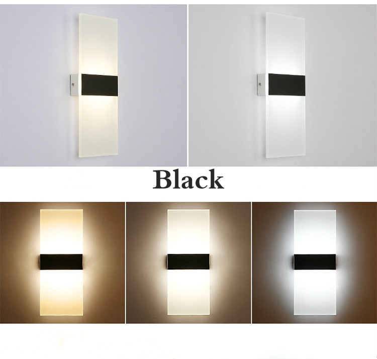 H6513c8762e4248cda5ed4c7c9fdec10eY - Mini 3/6/12/18W Led Acrylic Wall Lamp AC85-265V 14CM/22CM Long warm white Bedding Room Living Room Indoor wall lamp