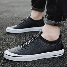 Men #8217 s Loafers New Casual Business Male Flat Shoes Loafers outdoor Breathable Mens Flat Sneakers Mokasin Kasual For Men Schoenen cheap WOSHI Genuine Leather Cow Leather Rubber 921782 Slip-On Solid Fits true to size take your normal size Massage Pig Split