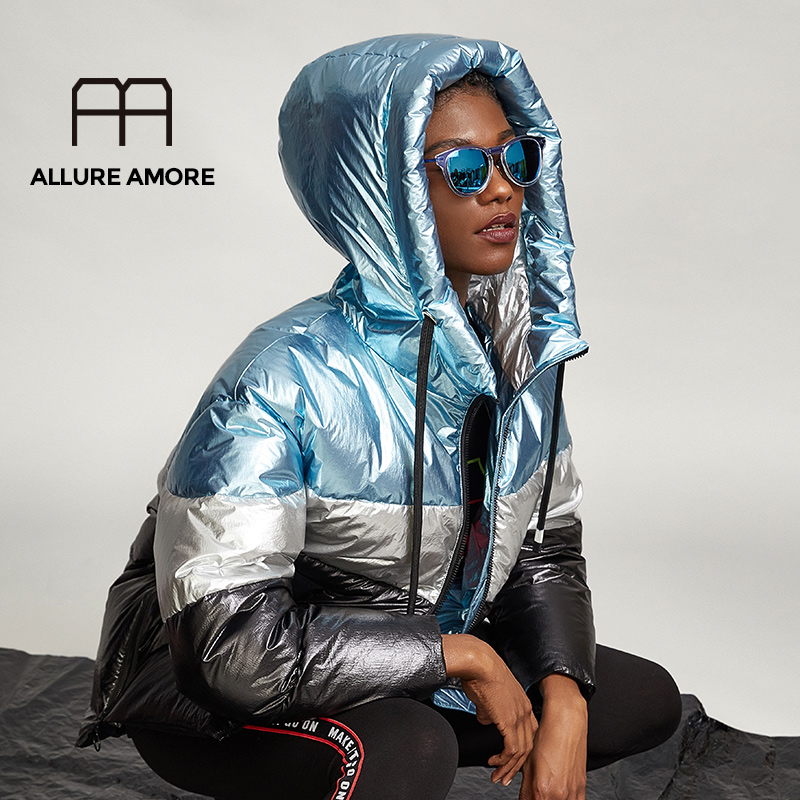 Allure Amore New Coat Women's Large Size Loose Thick Warm Down Jacket High Quality White Duck Down 2019 Hot Models
