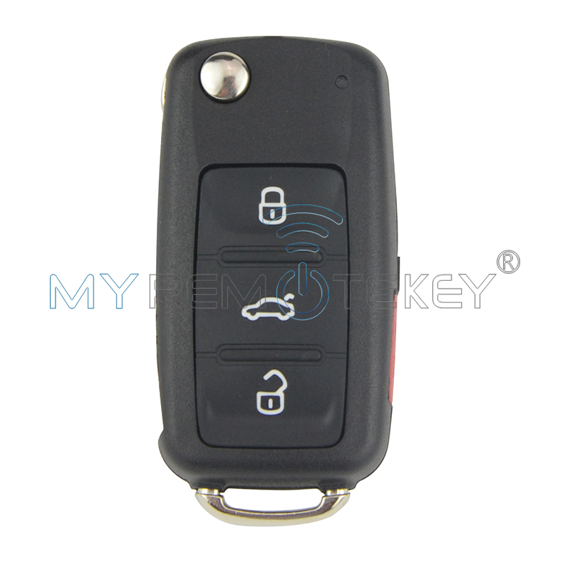 مفتاح السيارة عن بعد لـ VW Bettle CC EOS Golf Jetta Passat Tiguan Touareg 2014 2015 2016 4 button 5K0837202AE 315 MHz هرتز remtekey