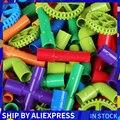 Туннель из труб  автомобильные колеса  DIY блоки  творческие кирпичи  обучающие игрушки для детей