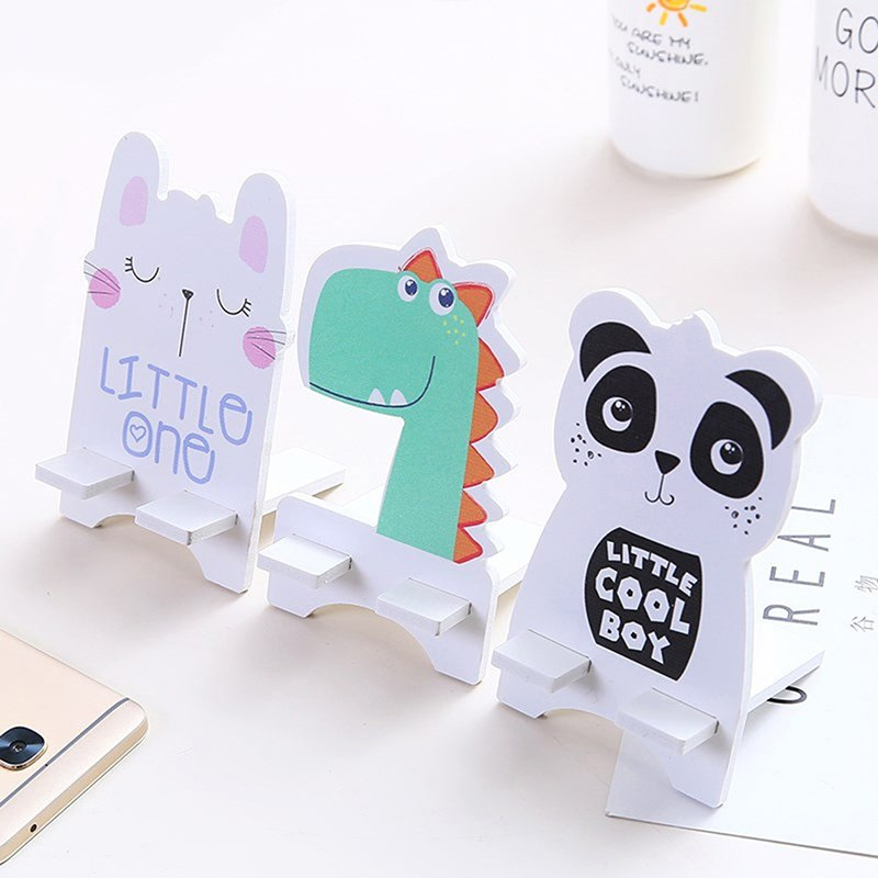 14cm X 8cm Cute Univeral Mobile Phone Holder Accessory Animal Panda Cat Adjustable Cellphone Tablet Desktop Holder Stand