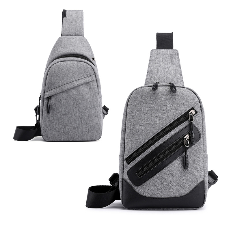 New Style Men Chest Pack Waterproof Travel Small Backpack Simple Versatile Casual Backpack Outdoor Shoulder Chest Bag