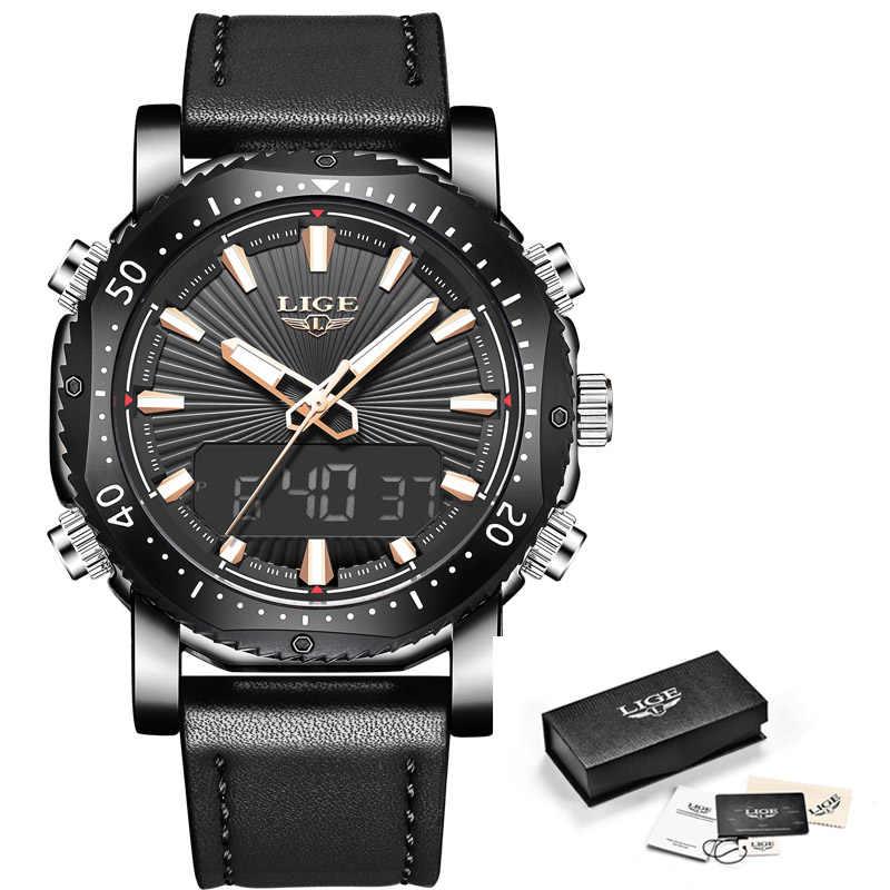 2020 Neue Herren Uhren Top-marke Luxus Digital Analog Quarzuhr Männer Leder Wasserdicht Militär Sport Uhr Relogio Masculino