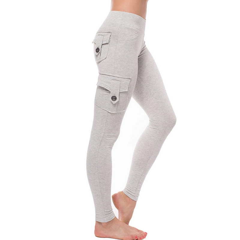 Muyogrt Women High Waist Skinny Leggings Pockets Long Legging Sexy Push Up Slim Pencil Jogger Soft Stretchy Sport Cargo Pant