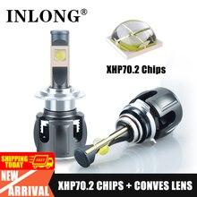 Cree XHP70 SG 20000LM H7 H11 Светодиодный светильник H4 H8 светодиодный светильник Canbus без ошибок Hb3 9005 HB4 светодиодный налобный фонарь авто противотуманн...