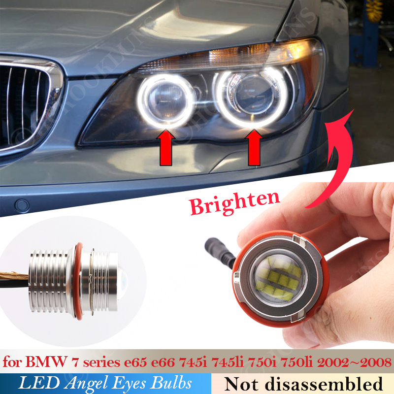 Для BMW 5 6 7 серии E65 E66 745i 745Li 750i 750Li 760i 760Li B7 ALPINA E63 E64 E39 E60 E61 светодиодный головной светильник ангельские глазки лампы светильник