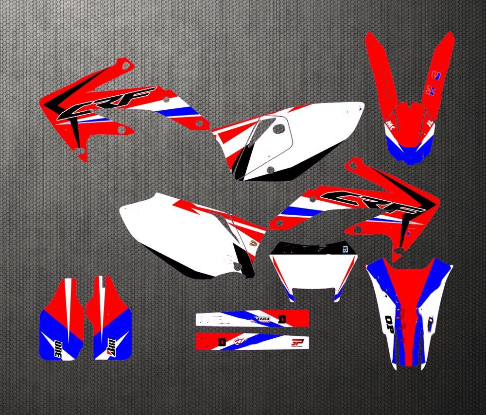 For Honda CRF450X CRF 450 X CRF450 2005-2012 2006 2007 Team Full Set Sticker Decals Kit Customized Number Graphics Backgrounds