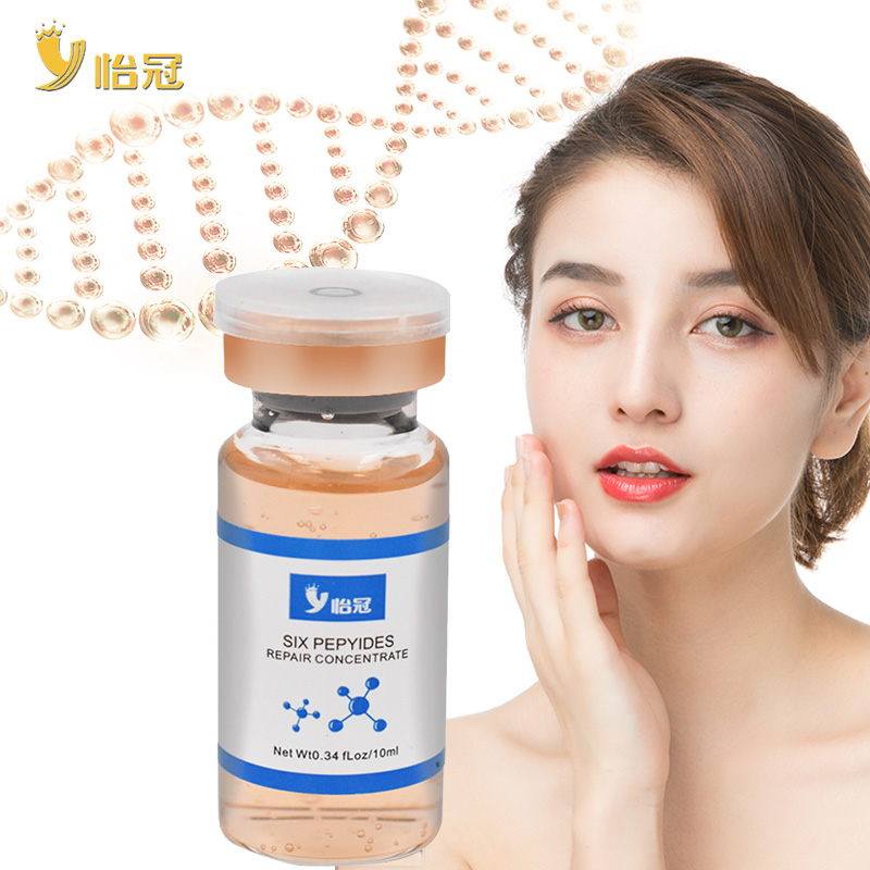 Hyaluronic Acid Argireline Six Collagen Peptides Anti Wrinkle Face Serum Anti-Aging Essence Moisturizing Whitening Cream image