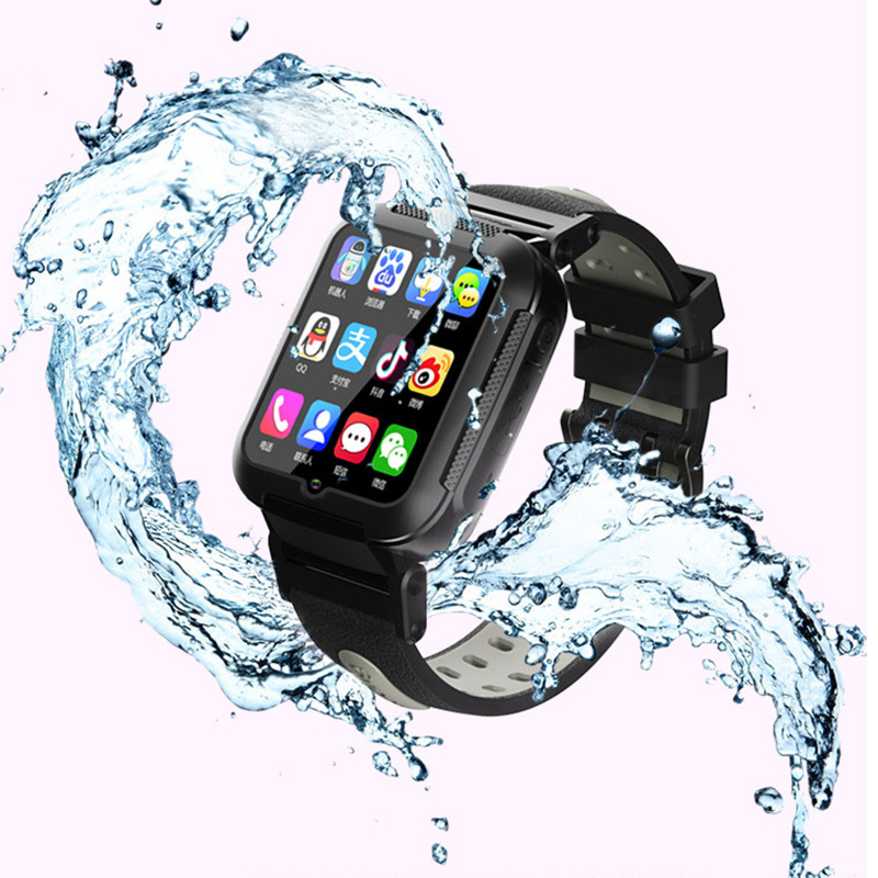 Smart watch <font><b>4G</b></font> GPS WIFI Tracking Video Call SOS Voice Chat Children <font><b>SmartWatch</b></font> IP68 waterproof swimming SIM card image