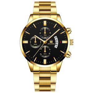 Image 2 - Модные Бизнес часы Роскошные мужские из нержавеющей стали пластиковые кварцевые часы мужские наручные часы Военные Спортивные часы Relogio Masculino