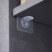 Ganchos de pared con ventosa, colgador transparente fuerte, soporte de almacenamiento de pared, pasta fija para partición de armario, 10 Uds.
