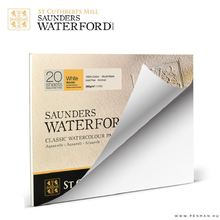 United Kingdom SAUNDER WATERFORD Watercolor Book 300g Cotton Water Color Paper Coarse, Medium and Fine Grain Sketchbook
