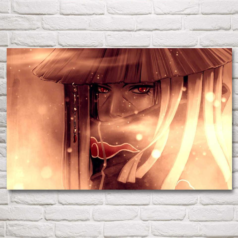 Modern resimler yatak odası duvar sanatı 1 adet Naruto Sharingan Sasuke tuval boyama baskılı Anime Uchiha Itachi posteri ev dekor