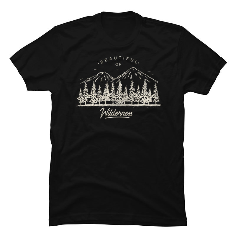 Beautiful of <font><b>Wilderness</b></font> Hot Sale Mens <font><b>T</b></font> <font><b>Shirts</b></font> Mountain Forest Stay Wild Men Tshirt Oversized Sweatshirt Homme image