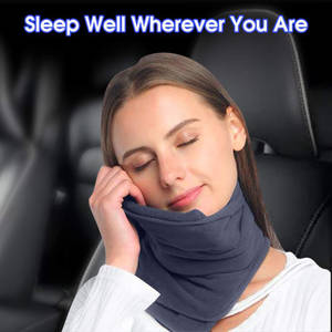 Scarf Pillow Airplane Nap-Neck No-Inflatable Travel
