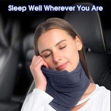 Travel Pillow Neck Airplane Scarf Pillow No Inflatable Comfortable Pillows Portable Cervical Pillow Nap Neck Massage Pillow