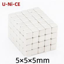 u-ni-ce 30/120 pcs Powerful N35 Neodymium Magnets  5*5*5mm Super Strong Cuboidal Cube Diy Magnets NdFeB Permanent Magnets diy 5mm buckyballs ndfeb magnetic magic beads silver 125 pcs