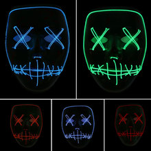 Helloween Party Ghost Face Mask Luminous Children Cold Decor Festival