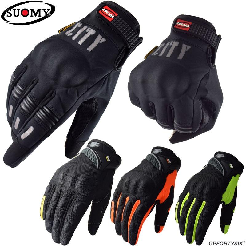 Водонепроницаемые перчатки Suomy для езды на мотоцикле и мотокроссе с сенсорным экраном, черные мотоциклетные перчатки #
