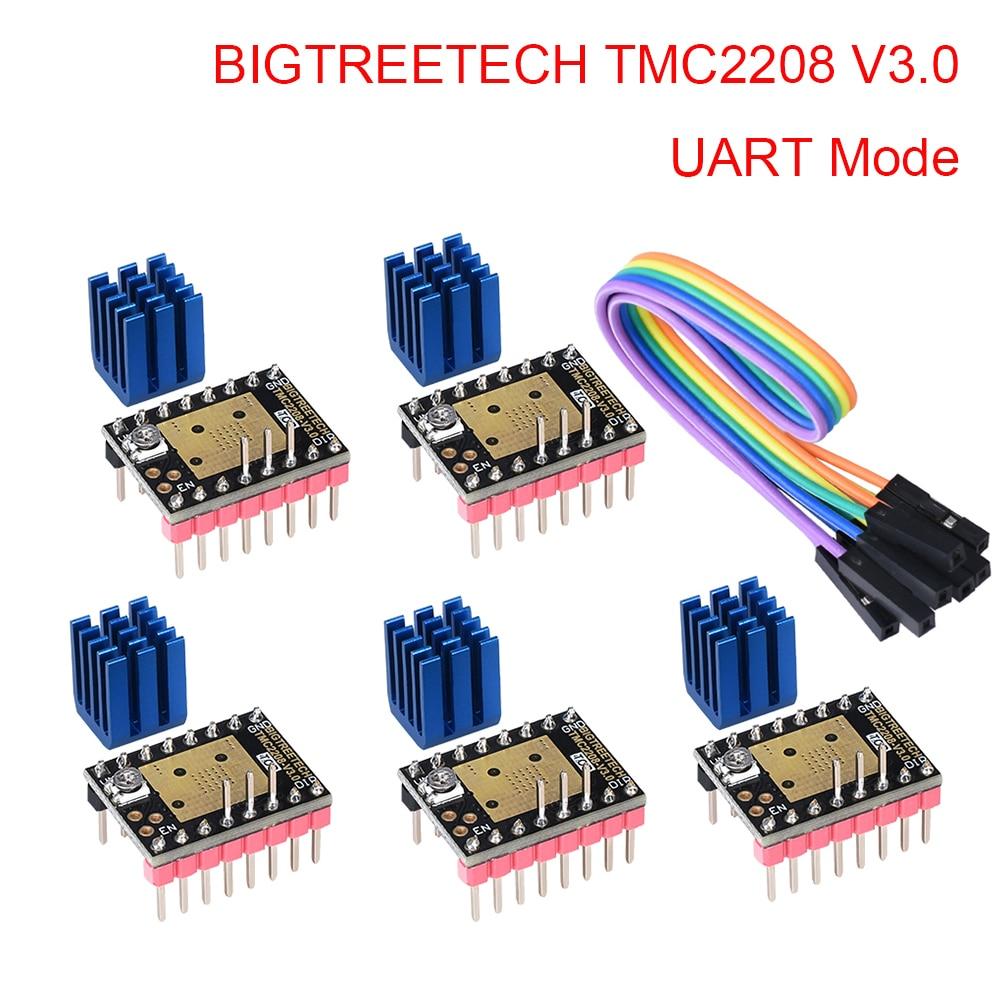 BIGTREETECH TMC2208 V3.0 Stepper Motor Driver UART VS TMC2209 TMC2130 For SKR V1.3 SKR V1.4 Turbo Ramps 1.4 3D Printer Parts