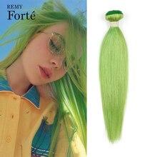 Реми Форте Светлый Волосы Пучки Бразильские Волосы Плетение Пучки Зеленые Пучки Человеческие Волосы Наращивание Один Пучки Волосы Продавцы
