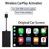 Wired To Wireless Apple CarPlay USB Dongle Plug and Play Bluetooth WiFi CarPlay for Car With OEM Wired Carplay