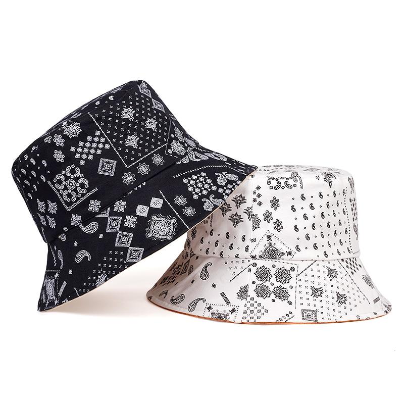 New Graffiti Printed Fisherman Hat Fashion Outdoor Sunscreen Shade Bucket Hat Unisex Universal Wild Hat Pure Cotton Casual Hats