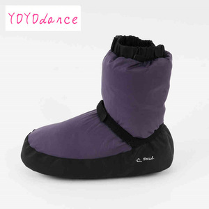 Image 2 - Professional Ballet Warm ups For Women  Pointe Dance Shoes Soft  Boots Protection Foot Warm  Ballerina Booties