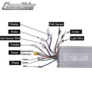 Image 2 - Ebike 48V 1000W 40A חשמלי אופניים Brushless בקר סינוס גל אולם חיישן KT סדרת תמיכה LED LCD