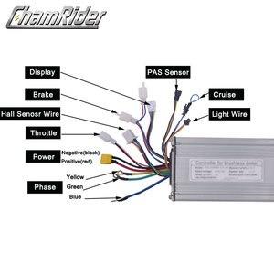 Image 2 - Ebike 48v 1000w 40a controlador sem escova da bicicleta elétrica onda senoidal salão sensor kt série suporte led lcd
