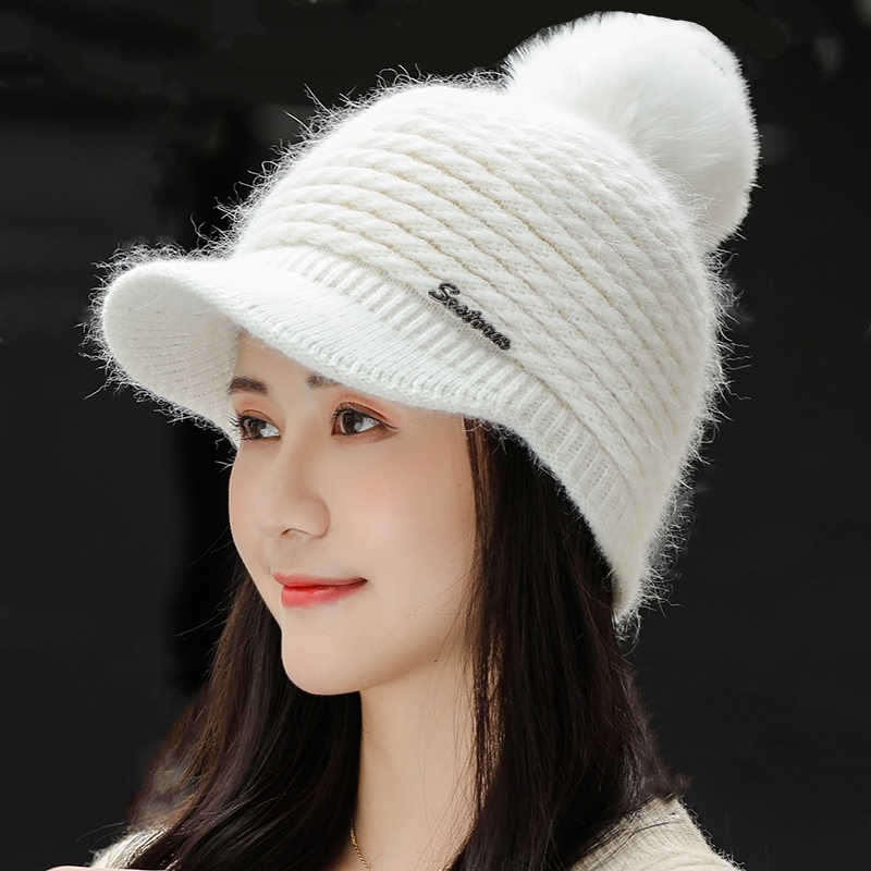 New  Winter Women/'s Hat Beanies Female Winter Hats for Women Knitted Bonnet Caps
