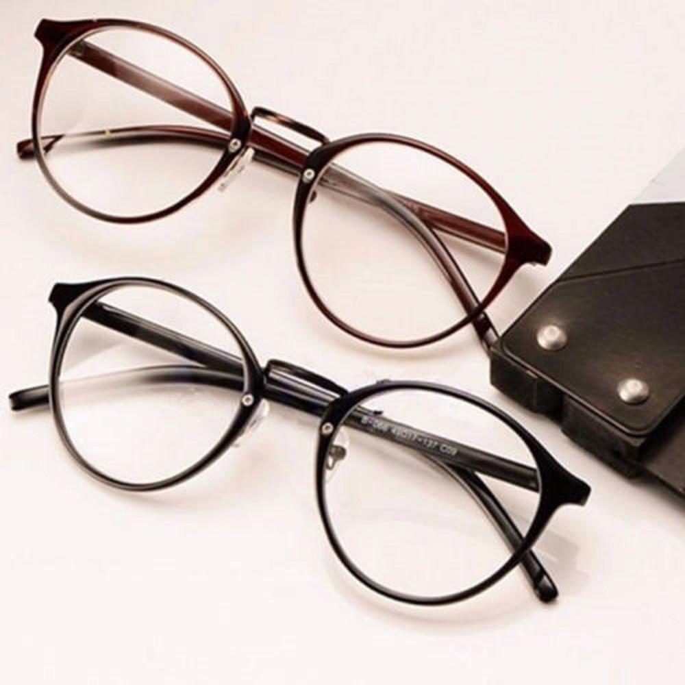 Clear Lens Eyeglasses Frame Retro Round Men Women Unisex Nerd Glasses