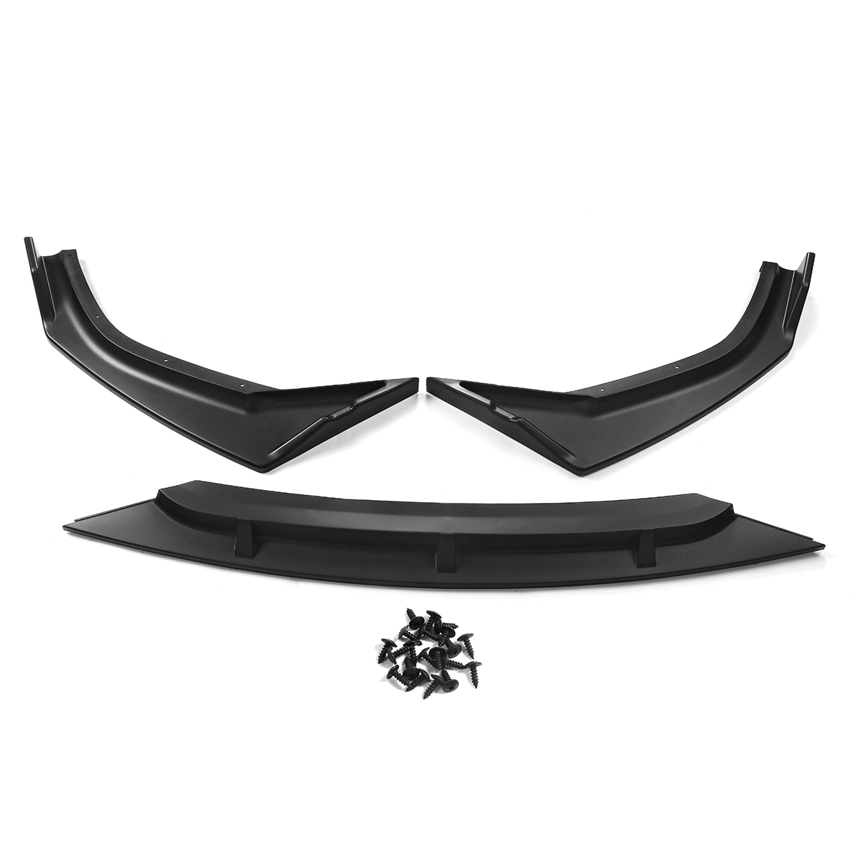 2019 New 3 piece Car Front Bumper Splitter Lip Body Kit Spoiler Diffuser Guard Trim Deflector Lips For Honda For <font><b>Civic</b></font> 2019-2020 image