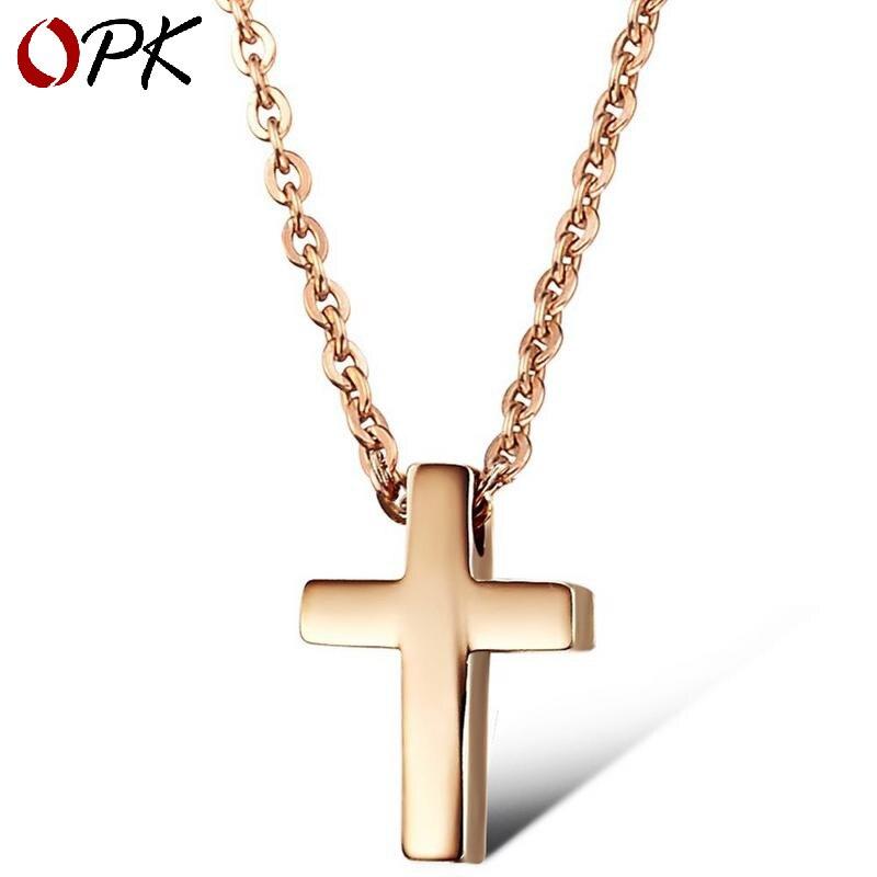 Marque coréenne mode bijoux nouveau Rose or tiff croix titane acier femmes collier personnalisé haut de gamme courte chaîne cadeaux