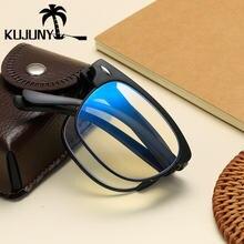 Очки для чтения kujuny с защитой от сисветильник складные круглые