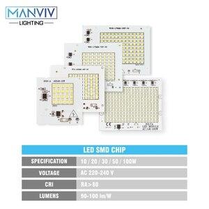 Image 2 - 5 SMD LED שבב 10W 20W 30W 50W 100W 230V מנורת שבב לא צריך נהג DIY LED הנורה מנורת LED הארה זרקור קר חם לבן