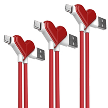 Madevil heart-shaped fast charging cable micro usb for cellphone Lenovo huawei xiaomi vivo samsung  Data sync